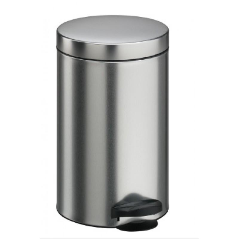 Cos menajer de gunoi cu pedala, INOX, 40L