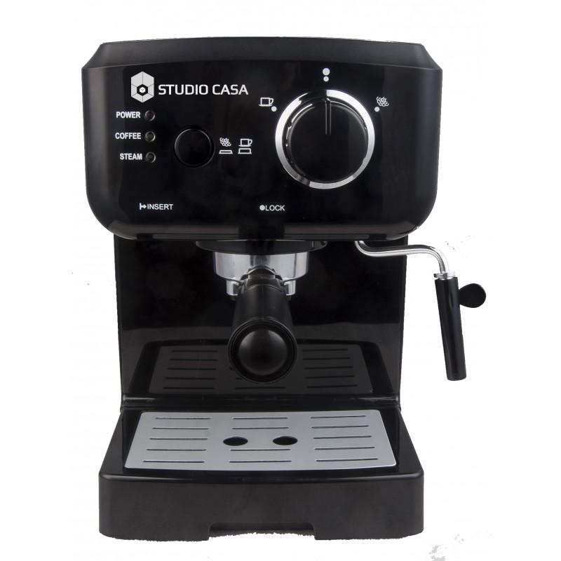 Espressor cu pompa Studio Casa Caffe Crema SC1901, 1140 W, 15 bar, 1.25 l, Negru